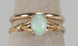 14k Ladies Opal Ring  & 14k Band, 2.8 Grams