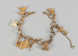 10k Gold Charms on Bracelet, 27.3 Grams Total Weight