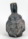 South American Pottery Head