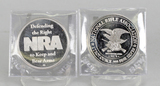 2 NRA .999 Fine Silver Troy Ounce Rounds
