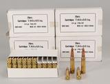 7.65 x 53 Arg. Vintage Ammo, 100 Rds.