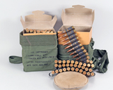 Vintage 7.62mm 4 Ball M80 Belted Ammo, 200 Rds.