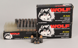 Wolf .45 Auto 230 Gr. FMJ, 135 Rds.