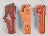 3 Long Barrel Leather Holsters