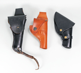 3 Leather Holsters - Vintage Style