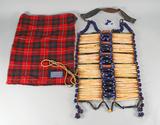 Native American Style Breast Plate w/ Pendelton Wool Bag