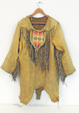 Leather Native American Style Shirt