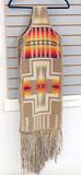 Wool & Leather Native American Style Sash