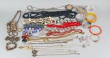 Assorted Costume Jewelry: Bakelite Bracelets, Necklaces, Pendants & More