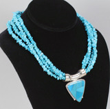 Turquoise & Silver Necklace w/ Pendant