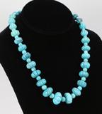 Beaded Polished Turquoise Necklace - Jay King