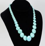 Turquoise Polished Disc Necklace