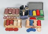 Assortment Vintage Poker Chips
