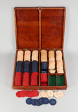 Vintage Poker Chips w/ Box