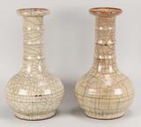 Pair of Chinese Ge-Ware Vases