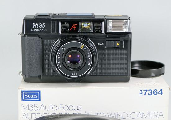 Sears M35 Autofocus Motor Drive 35mm Film Camera, Ca. 1980's
