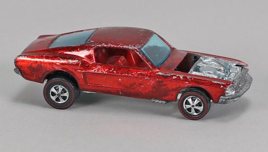 """Hot Wheels """"Redline"""" Custom Mustang  (No Hood), Ca. 1967"""