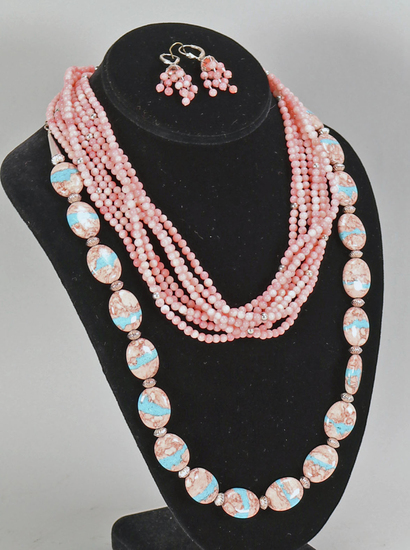 Polished Stone Necklaces, Earrings