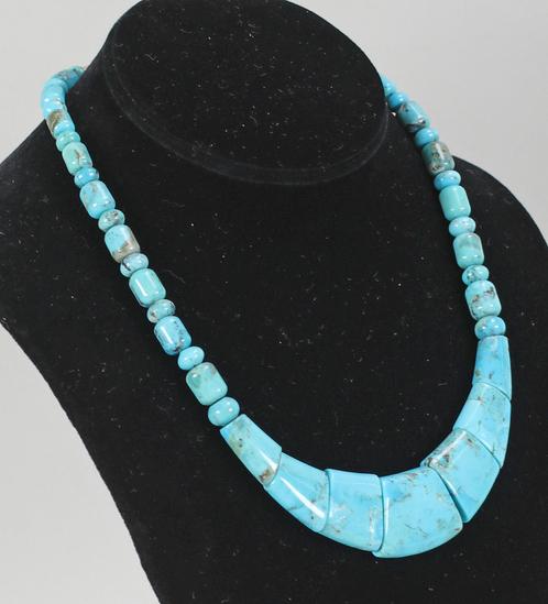 Polished Turquoise Necklace