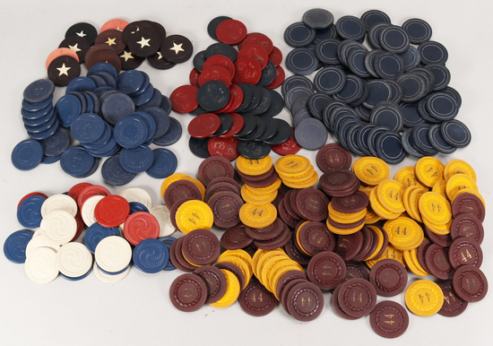 Collectible Poker Chips, #44, Elks, Stars, etc.
