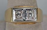 14k Gold & Diamond Ring, Sz. 10, 7.8 Grams