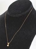 14k Diamond Drop Pendant w/ 14k Chain