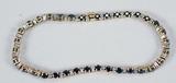 14k Bracelet w/ Black  Stones, 11.1 Grams