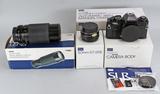 Sears KSX Super (Ricoh KR-10) 35mm Film Camera w/ Telephoto Lens, Ca. 1980