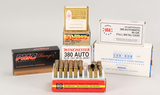 Assorted .380 - 9mm Ammo, 329 Rds.