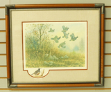 Autumn Covey-Quail by John L. Carter-13/25 Remarqued Artist Proofs