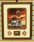 Buffalo Print, Nicely Framed