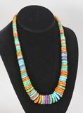 Southwest Style Polished Disc Necklace