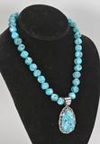 Polished Turquoise Necklace & Pendant