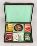 Vintage European Dyed Bone Gaming Chip Set