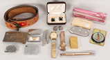 Cufflinks, Watches, Winchester Belt Buckle, Lighters, & More