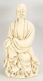 Chinese Blanc de China (Dehua) Porcelain Luohan Statue