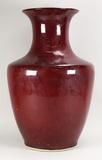 Large Chinese Ox-Blood Vase, Yongzheng Mark