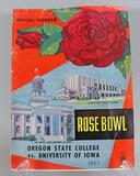 1957 Rose Bowl Program: Oregon State vs. U. of Iowa