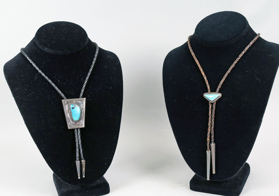 Vintage Southwest Turquoise Bolo Ties