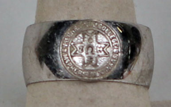 Sterling McPherson College Ring, Sz. 8.5