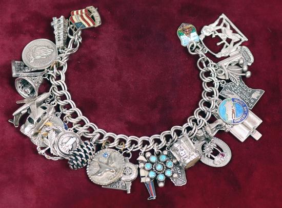 Charm Bracelet - Sterling Silver Charms