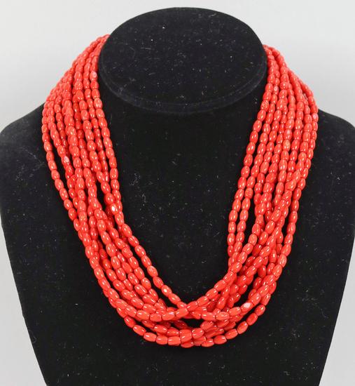 Multi-Strand Coral Colored Beads - Desert Rose Trading Design