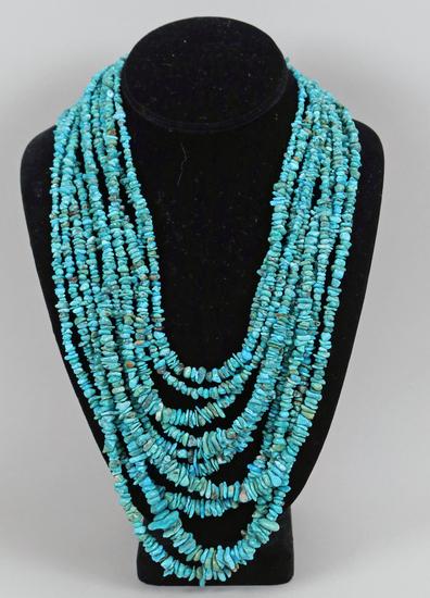 Southwest Style Multi-Strand Turquoise Necklace