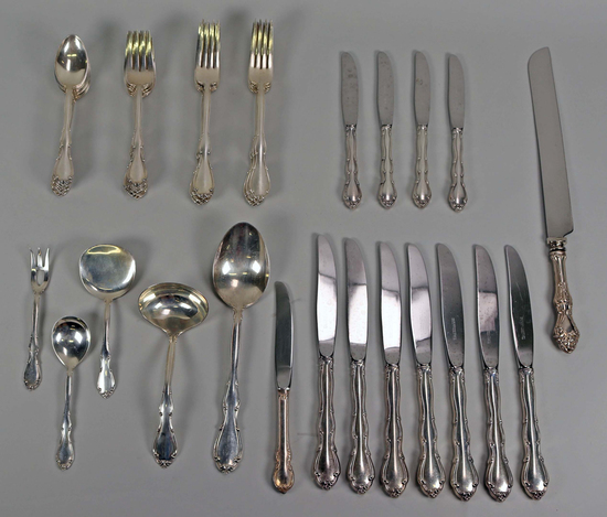 "Towle Sterling Silver  ""Fontana"" Flatware, 1,438.8 Grams"
