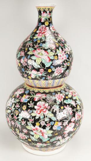 Chinese Post 1949 Modern Famille Rose Vase