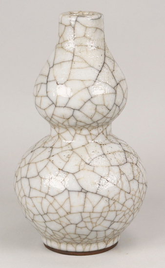 Chinese Ge-Ware Gourd Form Vase