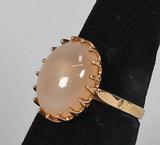 10k Gold Moonstone Ring, Sz. 8, 4.8 Grams