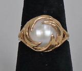 10k Pearl Ring, Sz. 8.5, 4.8 Grams