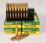 270 Win 130 GR Ammo, 100 Rds.