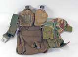 Canteens, US Army Belt, Bag & Cold Weather Cap